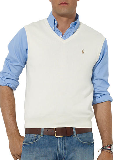 Polo Ralph Lauren Pima Cotton V-Neck Vest