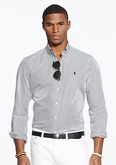 Polo Ralph Lauren Hairline-Striped Poplin Shirt