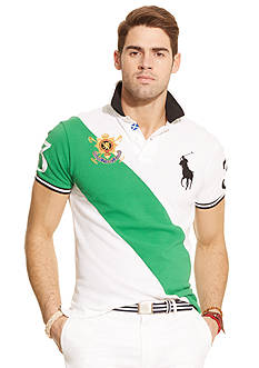 Polo Ralph Lauren Black Watch Custom-Fit Banner-Stripe Polo Shirt