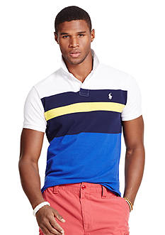 Polo Ralph Lauren Custom-Fit Multi-Striped Mesh Polo Shirt