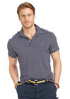Polo Ralph Lauren Striped Performance Lisle Polo Shirt