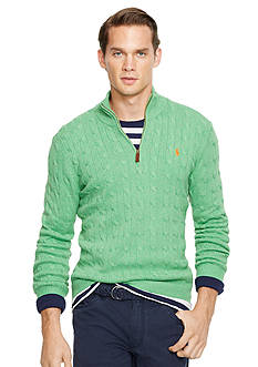 Polo Ralph Lauren Cable-Knit Tussah Silk Sweater