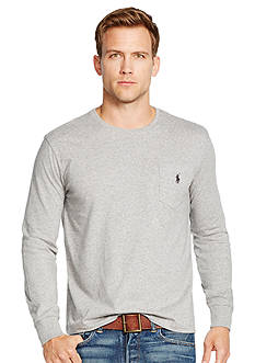 Polo Ralph Lauren Long-Sleeved Jersey Pocket Crewneck
