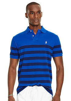 Polo Ralph Lauren Classic-Fit Striped Mesh Polo Shirt