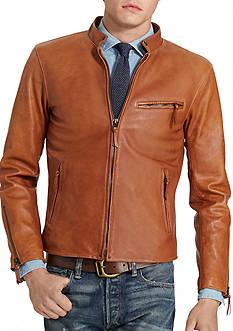 Polo Ralph Lauren Lambskin Caf Racer Jacket