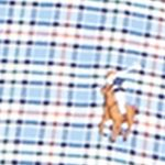 Mens Designer Shirts: Blue/Orange Polo Ralph Lauren Checked Oxford Shirt