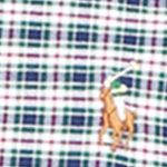 Mens Designer Shirts: Navy/Pink Polo Ralph Lauren Checked Oxford Shirt