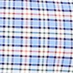 Mens Designer Shirts: Blue/Orange Multi Polo Ralph Lauren Slim-Fit Checked Stretch-Oxford Shirt