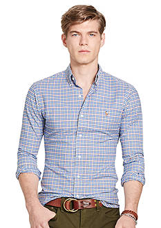 Polo Ralph Lauren Slim-Fit Checked Stretch-Oxford Shirt