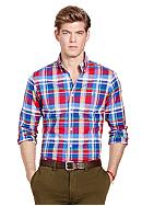 Polo Ralph Lauren Slim-Fit Plaid Stretch-Oxford