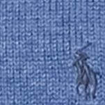 Mens Winter Sweaters: Shale Blue Heather Polo Ralph Lauren Cotton Half-Zip Sweater