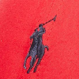 Red Designer Hats for Men: Rl2000 Red Polo Ralph Lauren Cotton-Blend Baseline Cap