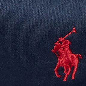 Red Designer Hats for Men: Newport Navy Polo Ralph Lauren Fleece Skull Cap
