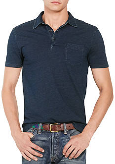 Polo Ralph Lauren Custom-Fit Indigo Cotton Polo Shirt
