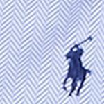 Blue Mens Designer Clothing: Maidstone Blue/White Polo Ralph Lauren Herringbone Knit Dress Shirt