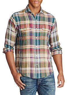 Polo Ralph Lauren Plaid Linen Workshirt