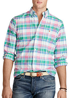 Polo Ralph Lauren Plaid Cotton Oxford Shirt