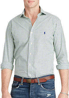 Polo Ralph Lauren Slim Plaid Cotton Poplin Shirt