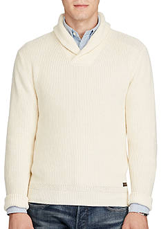 Polo Ralph Lauren Cotton Shawl-Collar Sweater