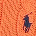 Mens Designer Sweaters: Coastal Orange Cable-Knit Mockneck Sweater