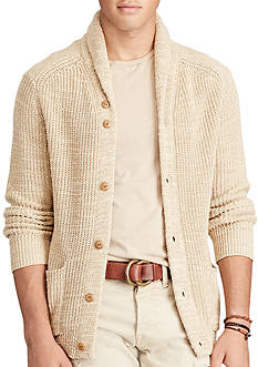 Polo Ralph Lauren Cotton-Linen Shawl Cardigan