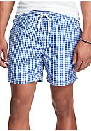 Polo Ralph Lauren 5-in. Gingham Swim Trunk