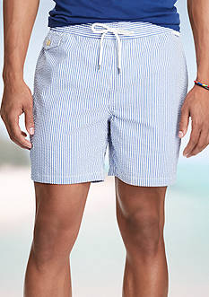 Polo Ralph Lauren 5 3/4-Inch Seersucker Swim Trunk