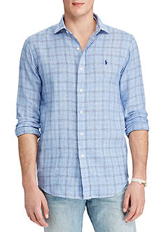 Polo Ralph Lauren Glen Plaid Linen Estate Shirt