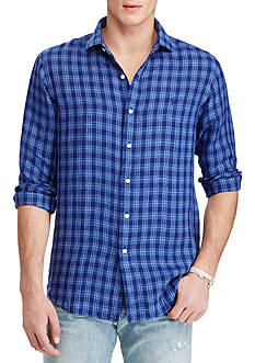 Polo Ralph Lauren Standard Fit Plaid Linen Estate Shirt