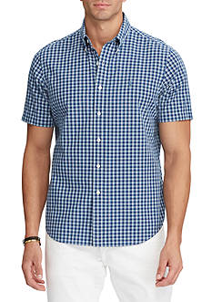 Polo Ralph Lauren Standard Fit Short-Sleeve Indigo Plaid Shirt