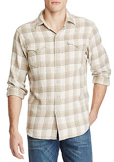 Polo Ralph Lauren Plaid Cotton Western Shirt