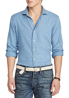 Polo Ralph Lauren Indigo Cotton Chambray Shirt