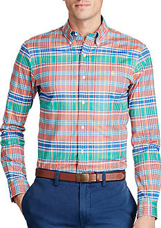 Polo Ralph Lauren Slim Fit Plaid Stretch Oxford Shirt