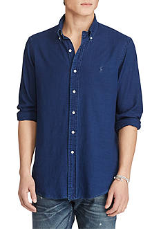 Polo Ralph Lauren Indigo Cotton Oxford Shirt