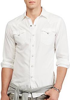 Polo Ralph Lauren Cotton Oxford Western Shirt