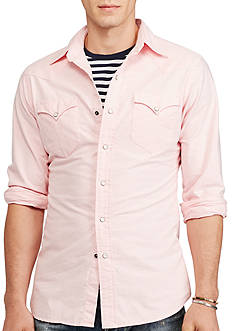 Polo Ralph Lauren Cotton Oxford Western Shirt