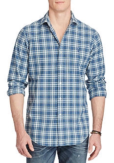 Polo Ralph Lauren Standard Fit Indigo Plaid Workshirt
