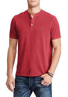 Polo Ralph Lauren Custom Fit Cotton Mesh Henley T-Shirt