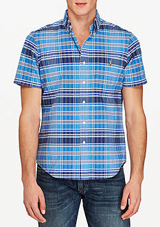 Polo Ralph Lauren Short-Sleeve Plaid Oxford Shirt