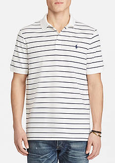 Polo Ralph Lauren Classic Fit Striped Stretch-Mesh Polo Shirt