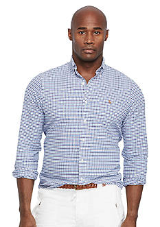 Polo Ralph Lauren Big & Tall Classic-Fit Checked Stretch-Oxford Shirt