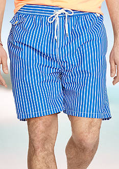 Polo Ralph Lauren Big & Tall Striped Traveler Swim Shorts