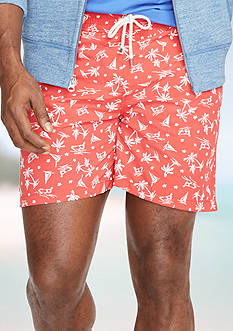 Polo Ralph Lauren Big & Tall Printed Traveler Swim Shorts