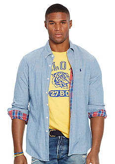 Polo Ralph Lauren Big & Tall Double-Faced Chambray Shirt