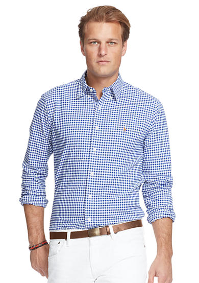 Polo ralph lauren big tall stretch oxford long sleeve for Big and tall oxford shirts