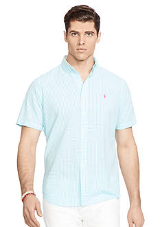 Polo Ralph Lauren Big & Tall Short-Sleeve Gingham Seersucker Shirt