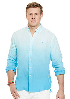 Polo Ralph Lauren Big & Tall Ombre Linen Shirt