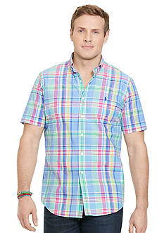 Polo Ralph Lauren Big & Tall Short-Sleeve Plaid Poplin Shirt