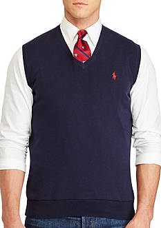 Polo Ralph Lauren Big & Tall Pima Cotton V-Neck Vest