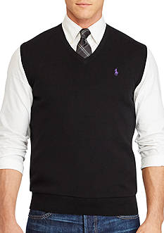 Polo Ralph Lauren Big & Tall Pima Cotton V-Neck Vest